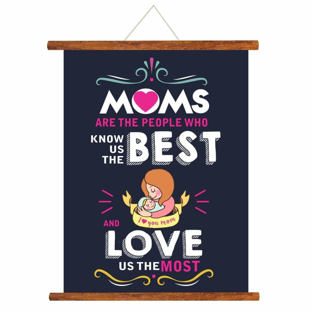 Wall Hanging Poster of Mother Day Quotes in hindi